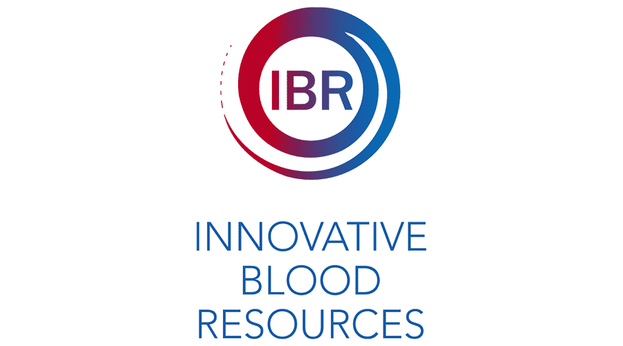 Innovative Blood Resources (IBR) Logo Vector