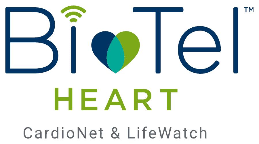 BioTel Heart Logo Vector