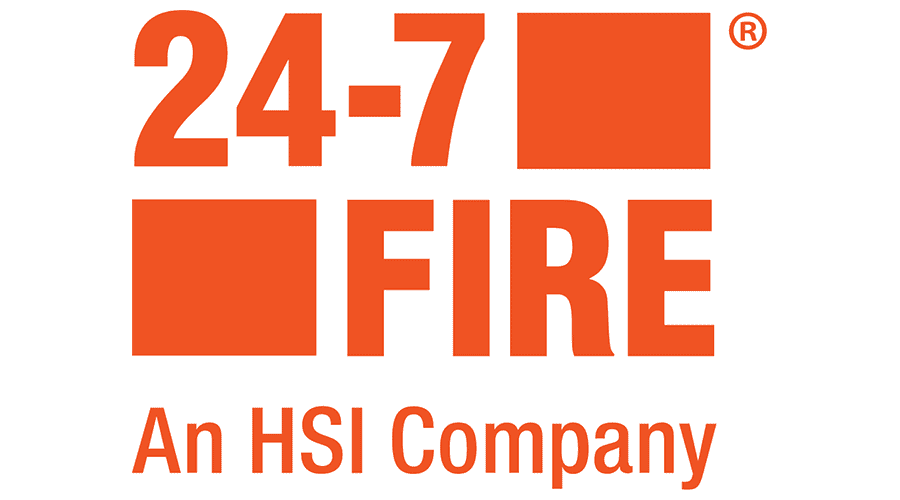 24-7 Fire, An HSI Company Logo Vector