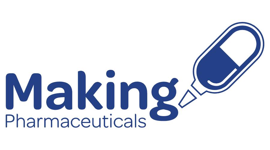 Making Pharmaceuticals Logo Vector