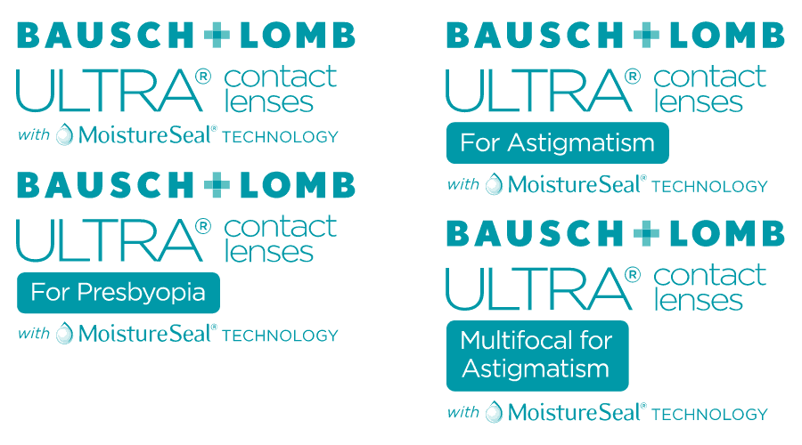 Bausch and Lomb ULTRA contact lenses with MoistureSeal technology Logo Vector
