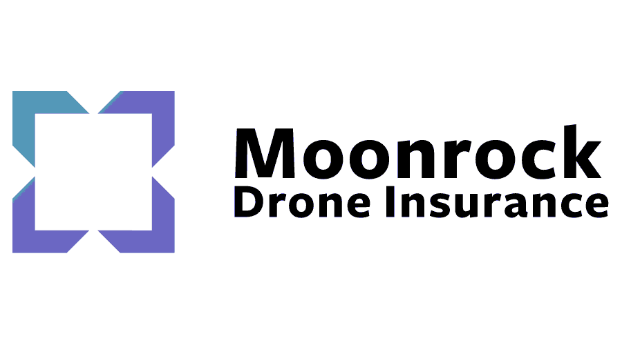 Moonrock Drone Insurance Logo Vector