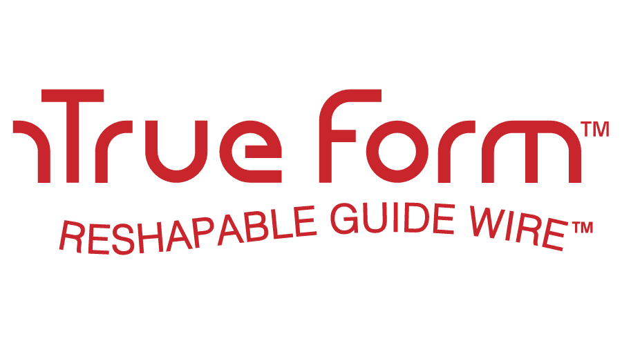 True Form Reshapable Guide Wire Logo Vector
