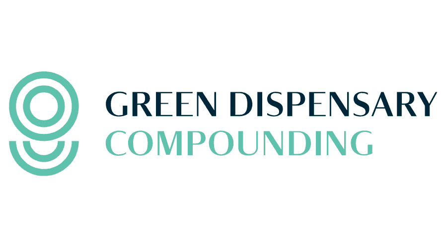 Green Dispensary Compounding Logo Vector