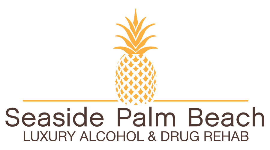 Seaside Palm Beach Luxury Alcohol and Drug Rehab Logo Vector